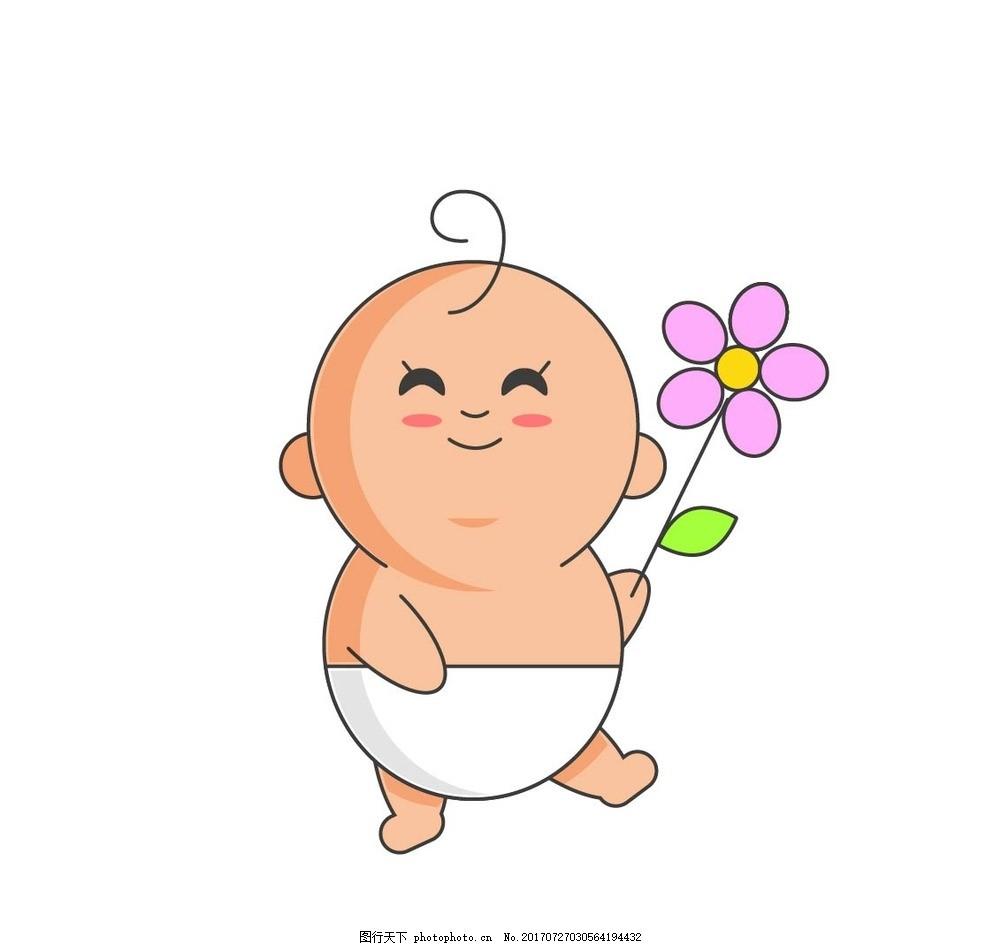 卡通宝宝,动漫卡通 可爱 贺卡 插画 儿童绘本 儿童-图