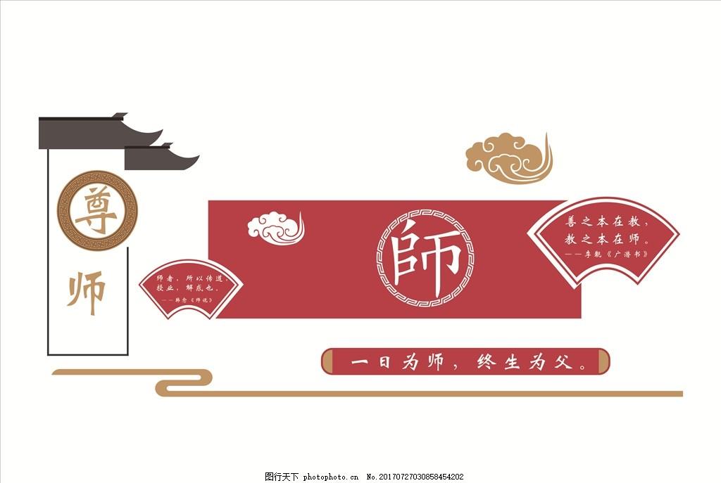 围墙 校园文化 展板 国学 中国风 设计 广告设计 室外广告设计 ai