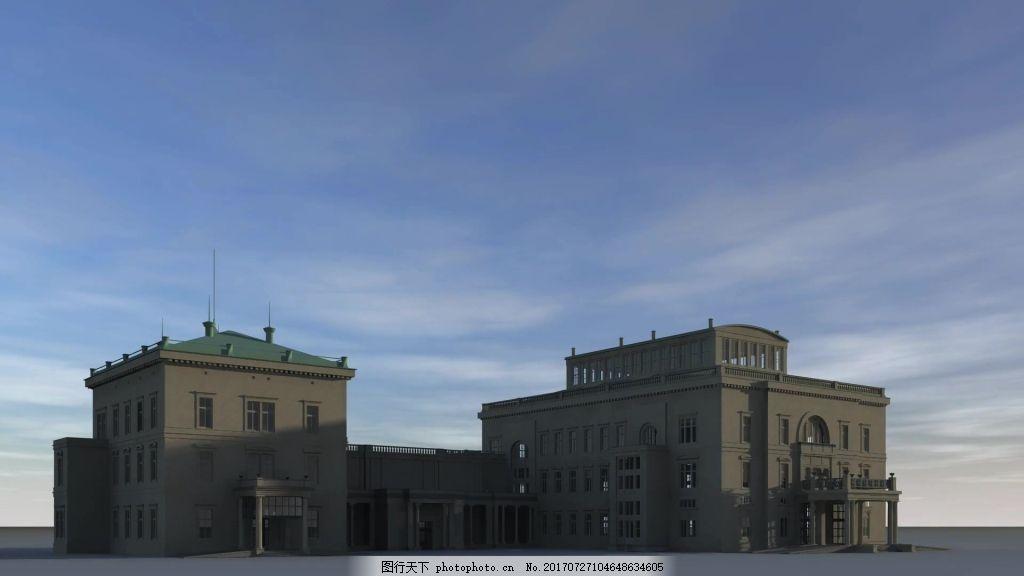 三维建筑视频素材 视频背景 视频模版