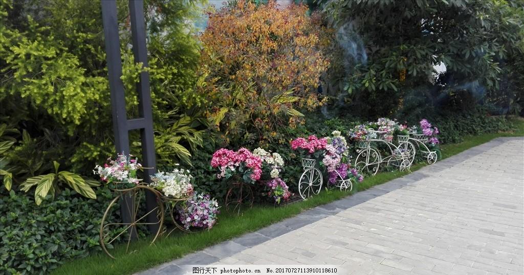 房地产包装 看楼通道包装 花艺 地产小品 园林 小区 路边 绿化 花草
