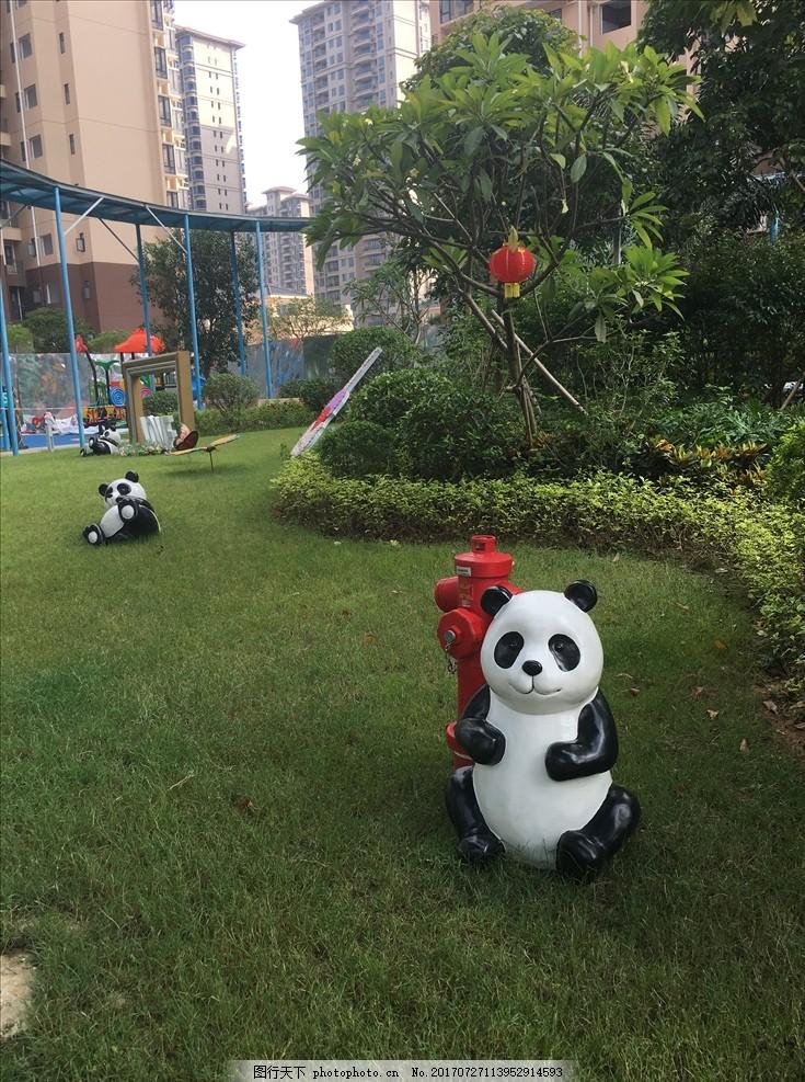 地产包装 看楼通道包装 现场包装 立体熊猫 熊猫装饰品 园林小品 灯笼