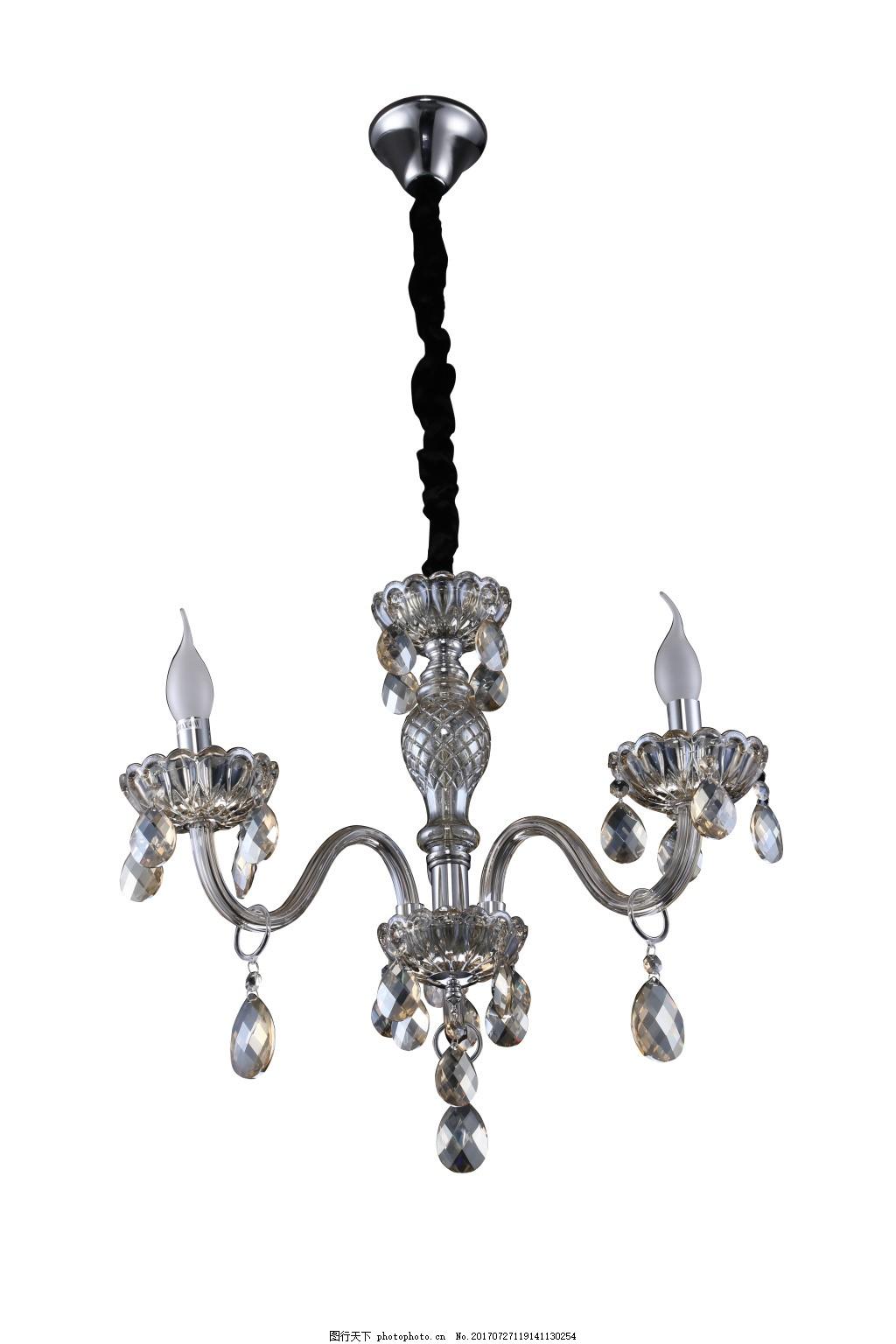 烟灰色水晶灯免抠素材 水晶灯 k9水晶 烟灰色 欧式 简约 家装 高清