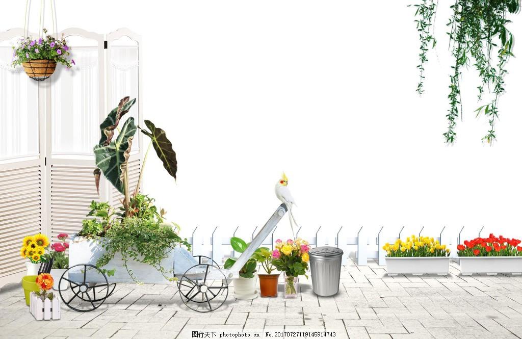 现代家居装饰png免扣元素 花盆 盆景 简约 透明