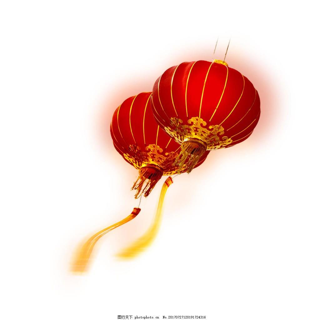 漂浮红灯笼png免扣元素 喜庆 新年