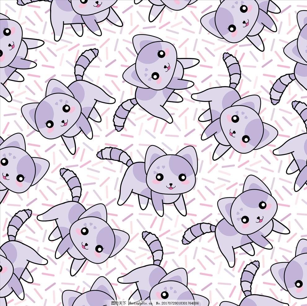 可爱卡通矢量猫