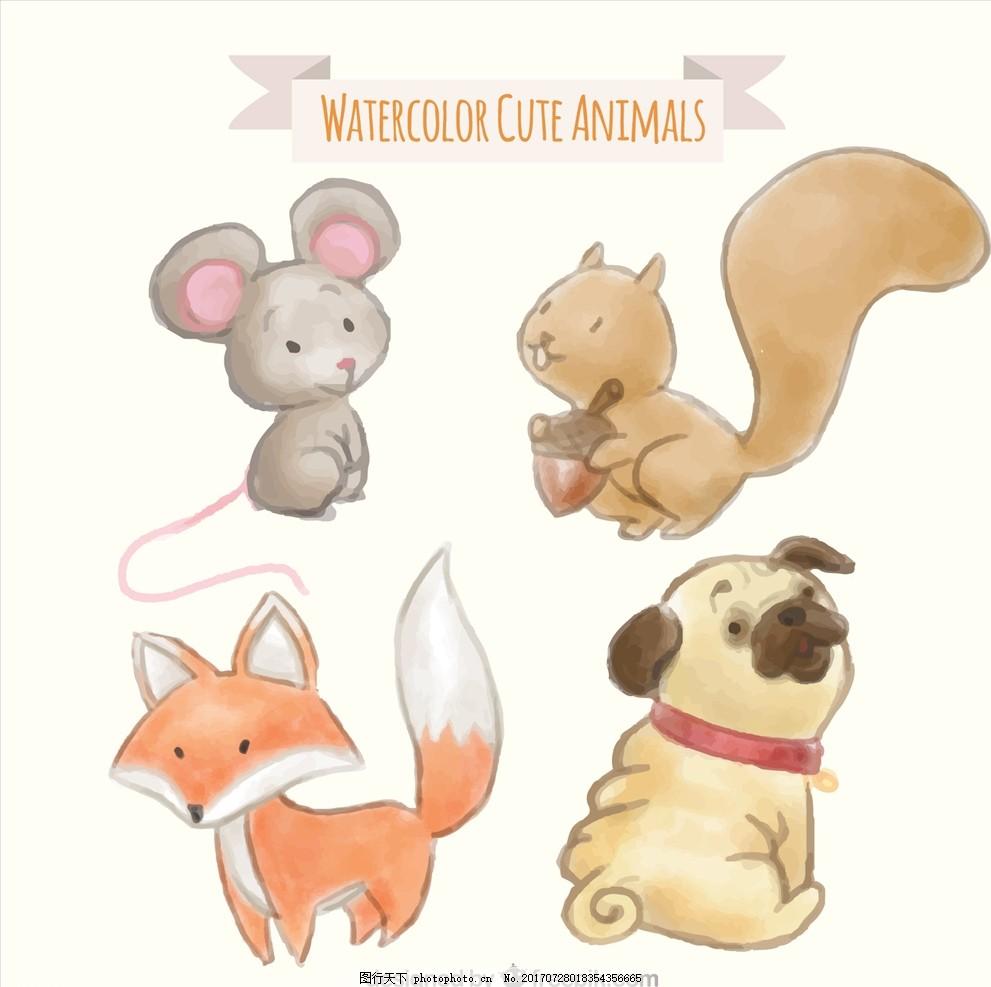 儿童乐园 公园 小动物漫画 小动物图案 q版插图 q版动物 插画 简笔画