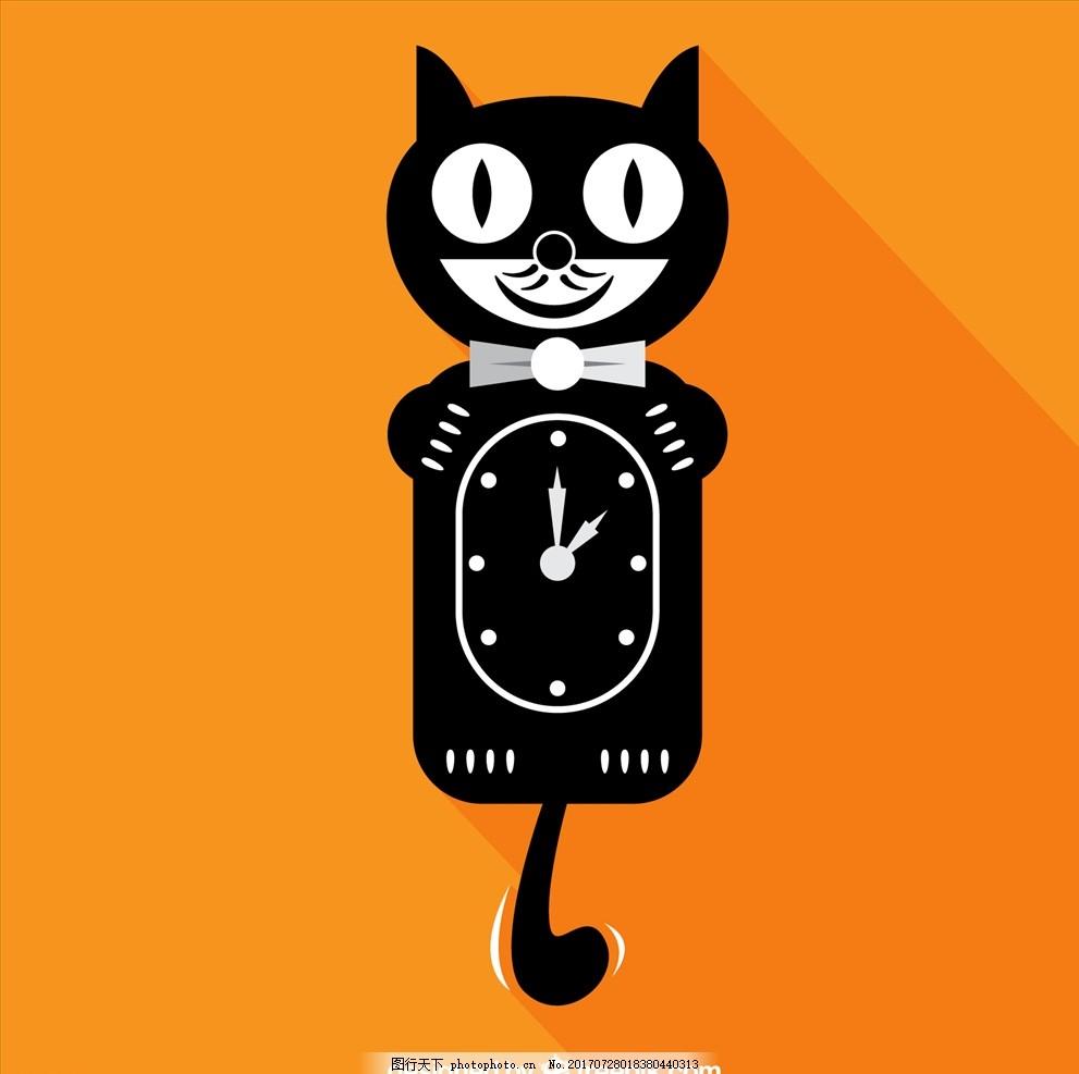 矢量图 卡通漫画 q版动物 猫 喵喵 可爱猫 可爱的猫 猫儿 小猫 猫素材