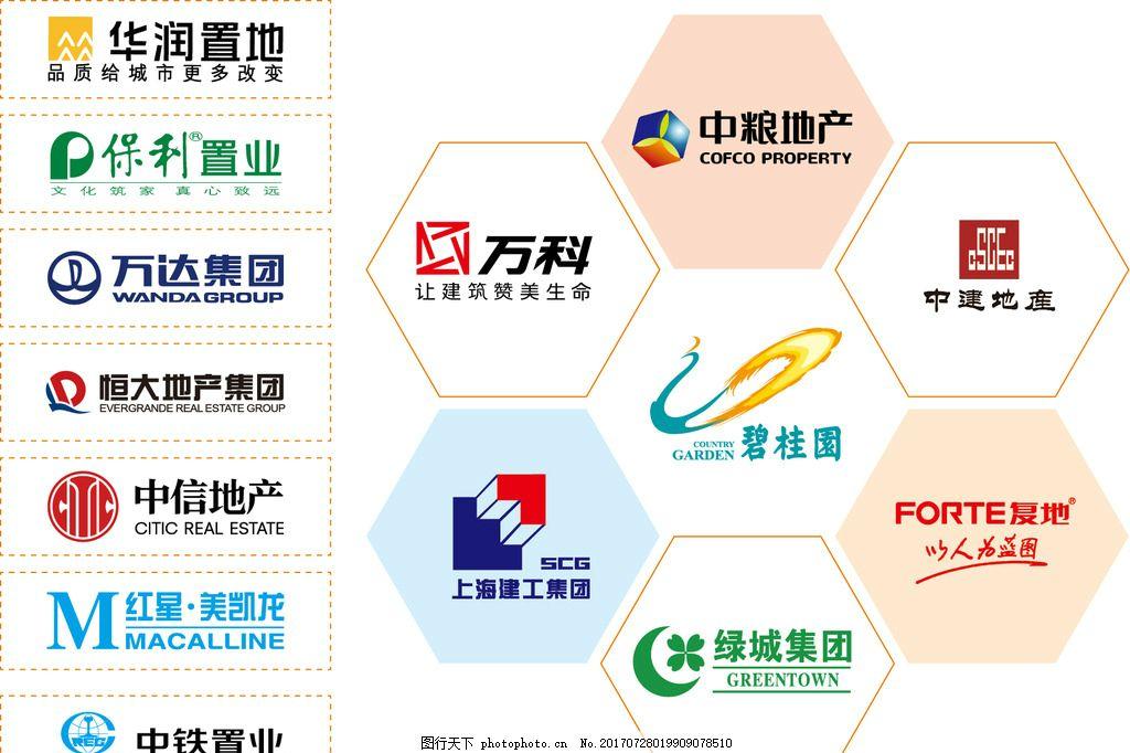 地产LOGO 房地产 恒大 中粮地产 万科 碧桂园 万达 中国中铁
