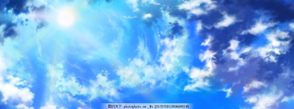 蓝色梦幻电商banner背景 淘宝首页 唯美背景 温馨背景 渐变背景