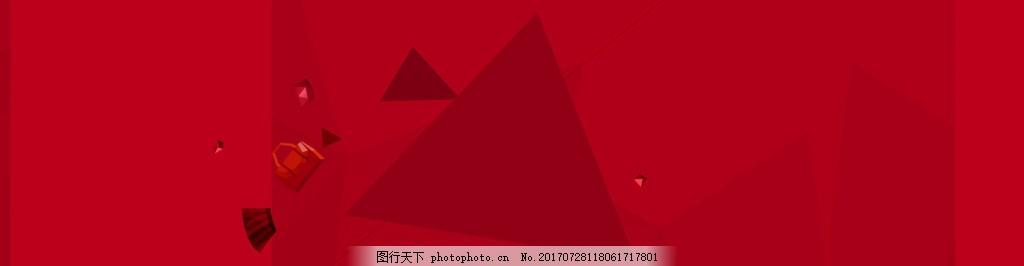 中国风红色banner背景 背景素材 渐变背景图 夏季清新 海报背景图