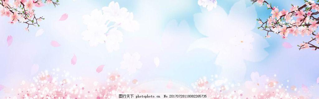背景清新 小清新 花瓣 蓝色天空