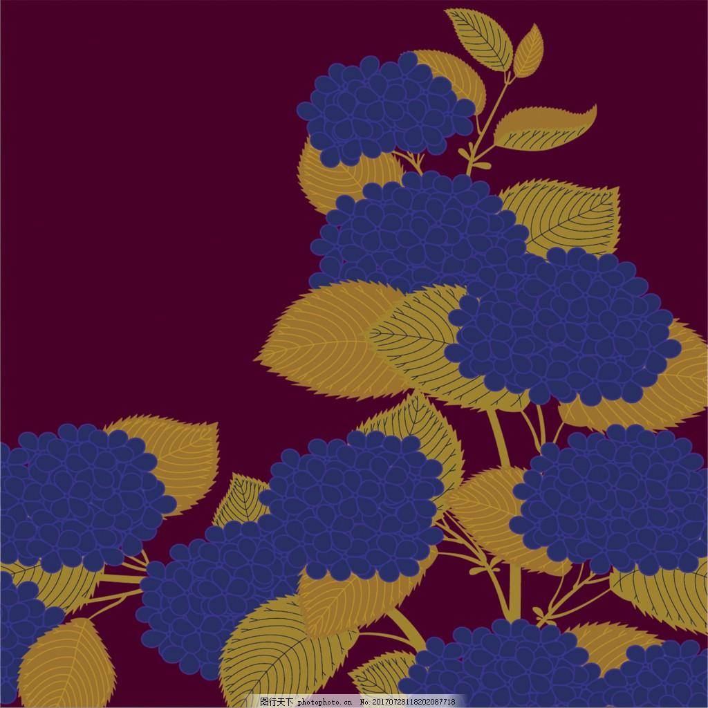 蓝色花朵背景图 广告设计 广告背景图 背景图片下载 矢量背景图