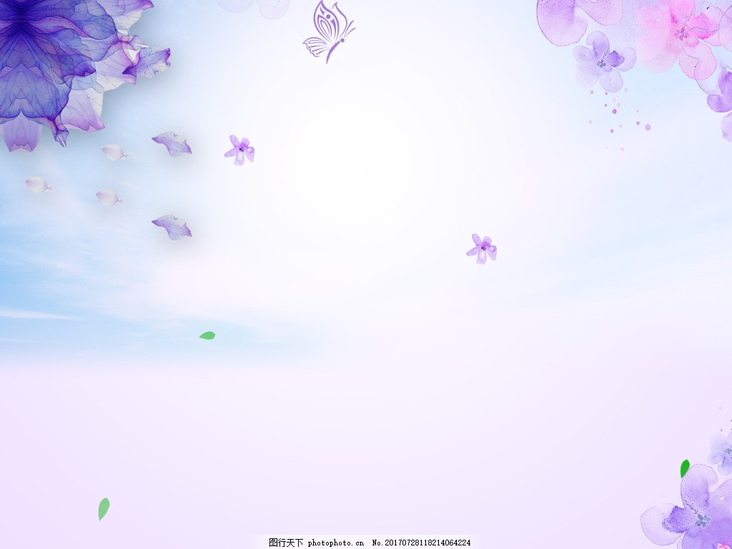 紫色夢幻花朵背景 唯美 仙境 時尚