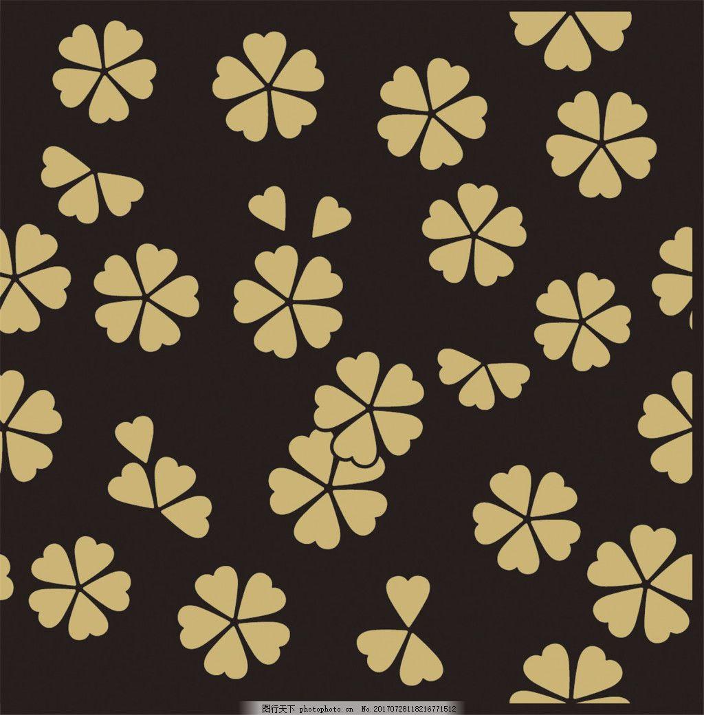 黄色四叶草背景图
