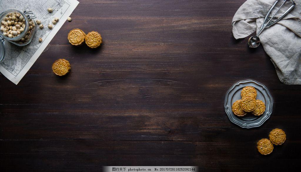 家居食品干果背景 木质 餐桌 桌面 包装袋 饼干 盘子 零售