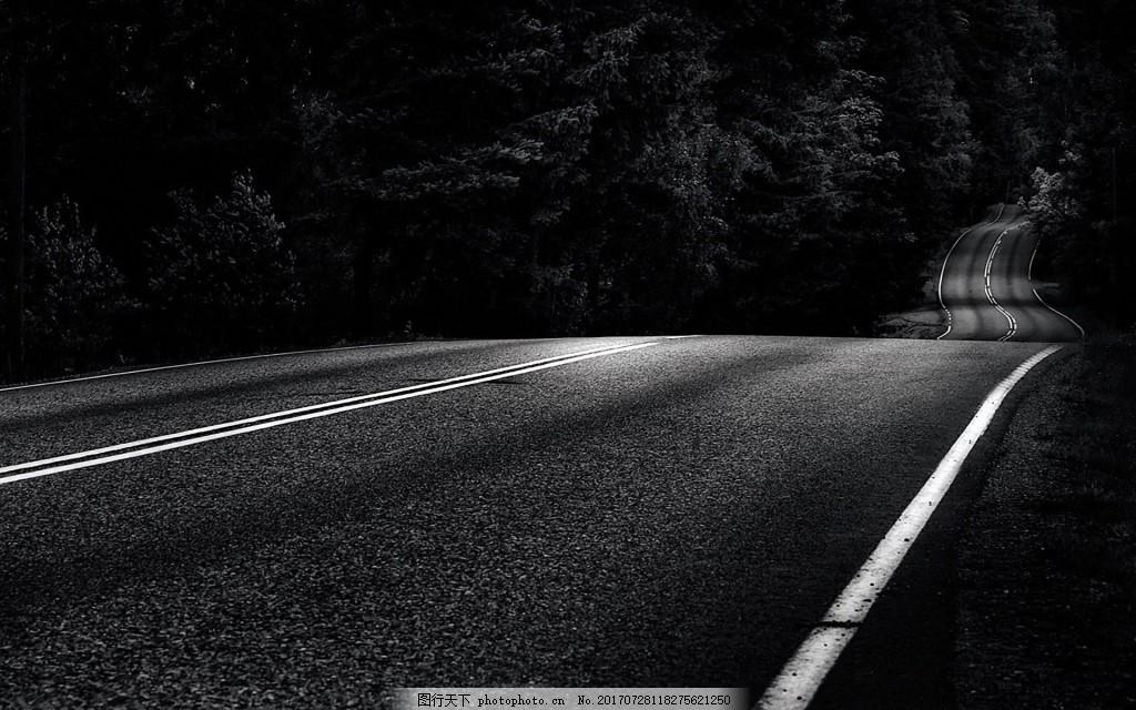 夜晚黑色道路背景 黑色 大气 夜晚 幽静 公路 幽深 广告背景 背景素材图片