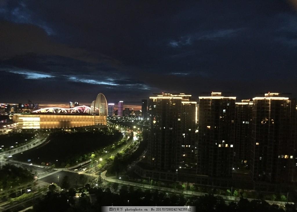夜晚的城市 夜晚 晚上 城市 灯光 灯火 黑夜 晚上的马路 灯火通明