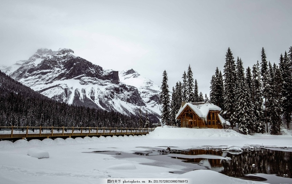 班芙雪山 唯美 风景 风光 旅行 自然 加拿大 北美 雪景 摄影