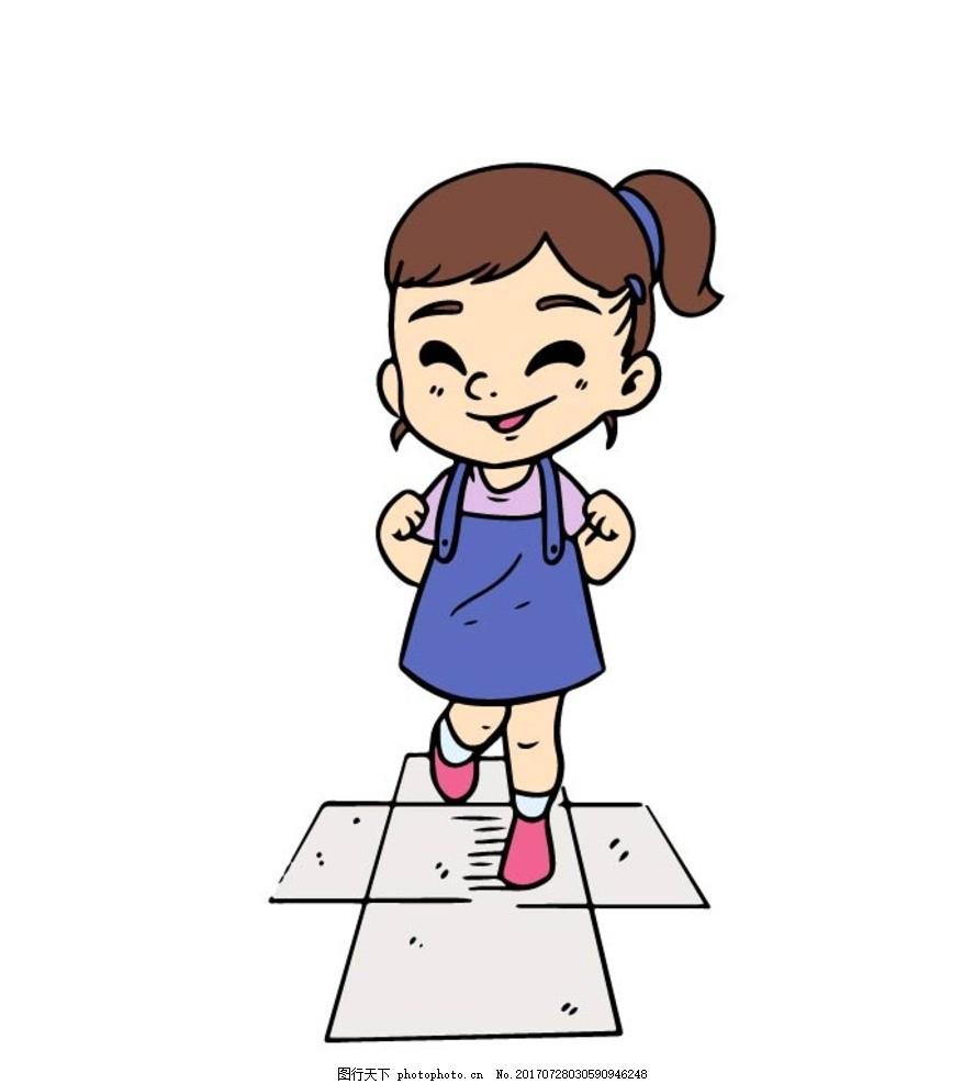 儿童画画 矢量图 卡通漫画 贴纸 卡通学生 卡通儿童 儿童 小孩子 卡通图片