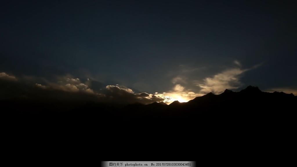 夕阳下的美景 景色 风光