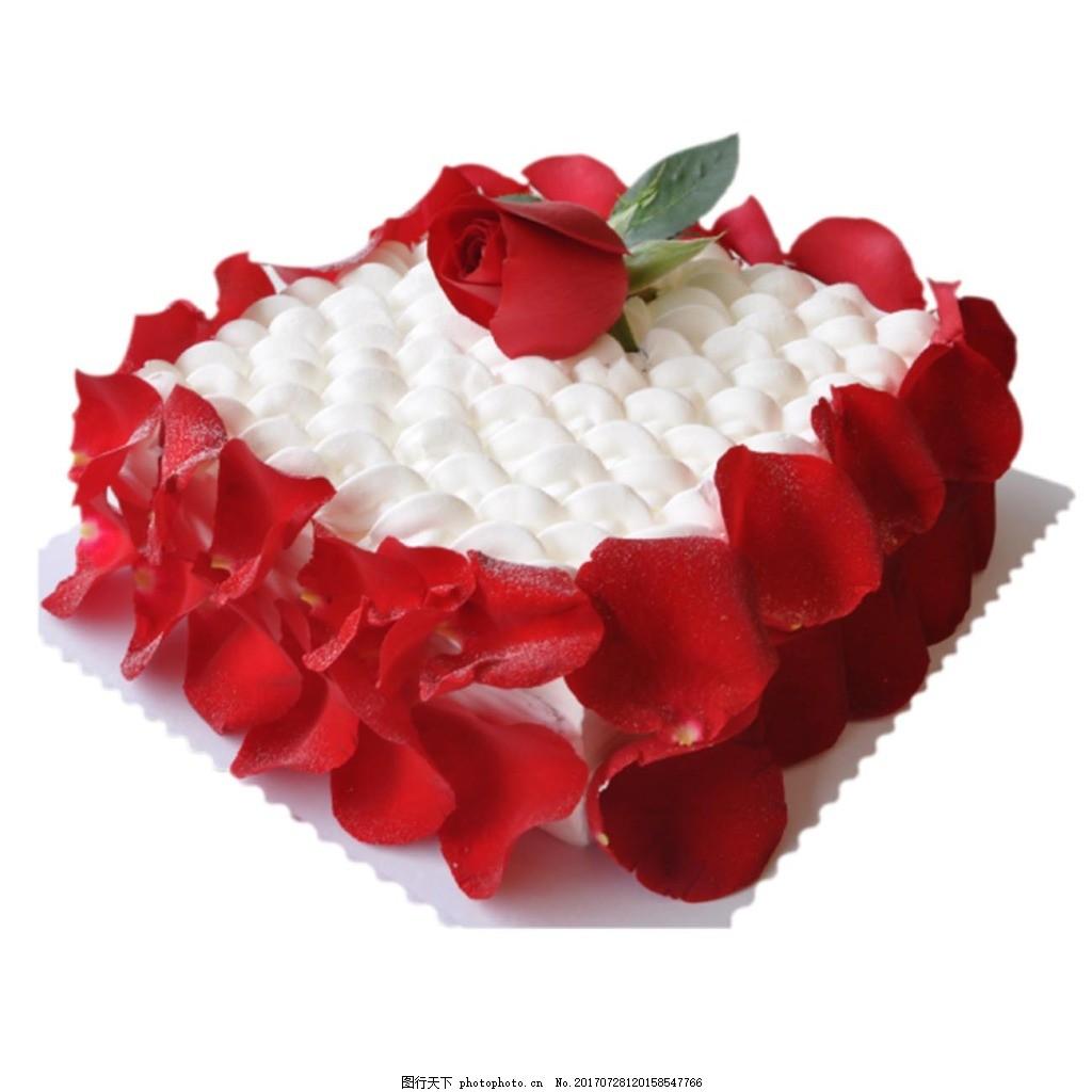 浪漫红心花瓣蛋糕png免扣元素 花瓣 玫瑰花瓣 红心 心形 蛋糕 七夕图片