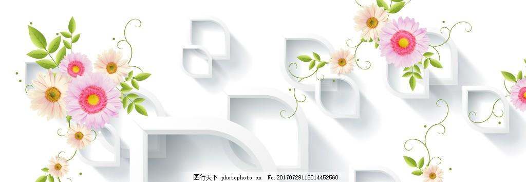 唯美花朵banner背景 背景素材 渐变背景图 夏季清新 海报背景图