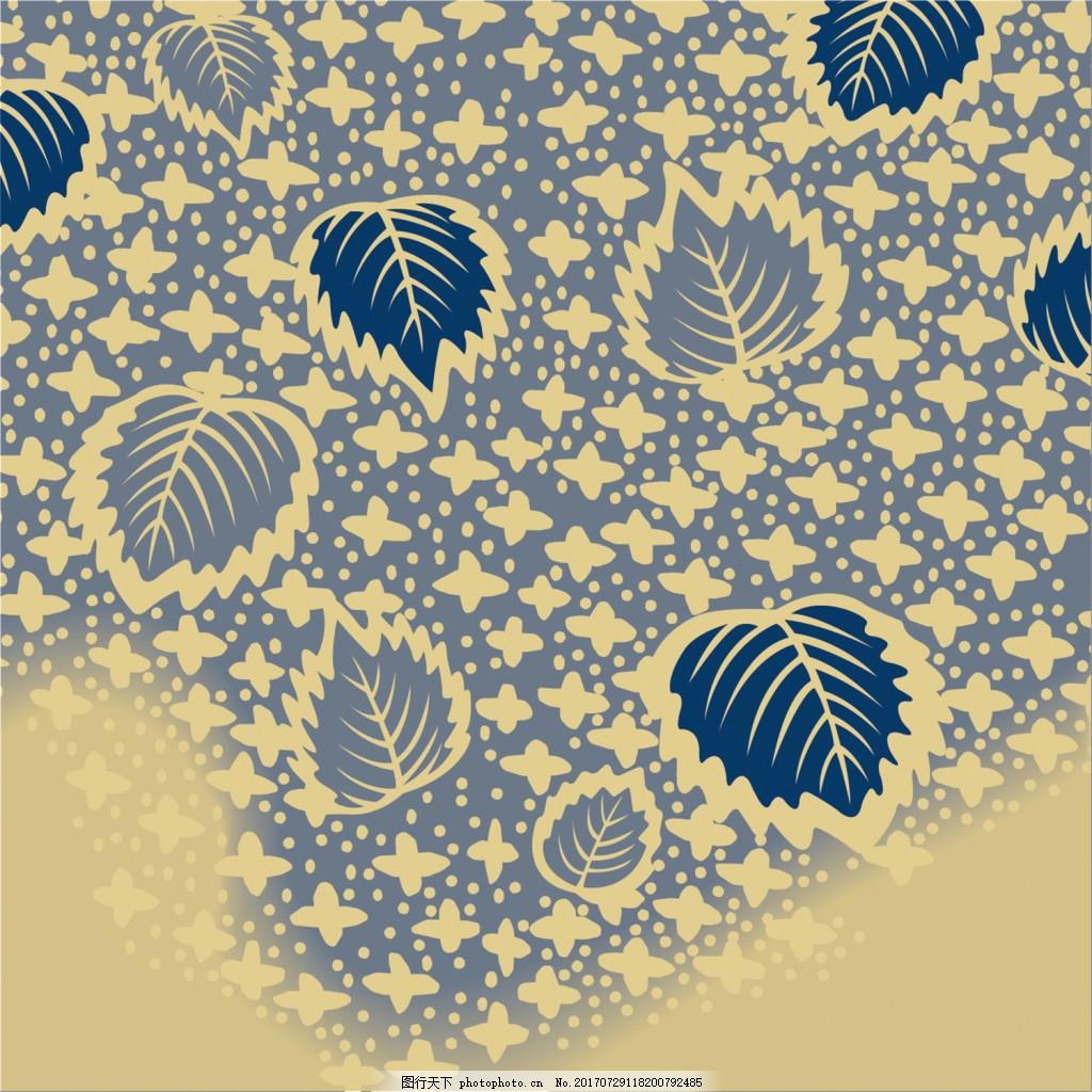 蓝色树叶蝴蝶纹背景图 广告设计 广告背景图 背景图片下载 矢量背景图