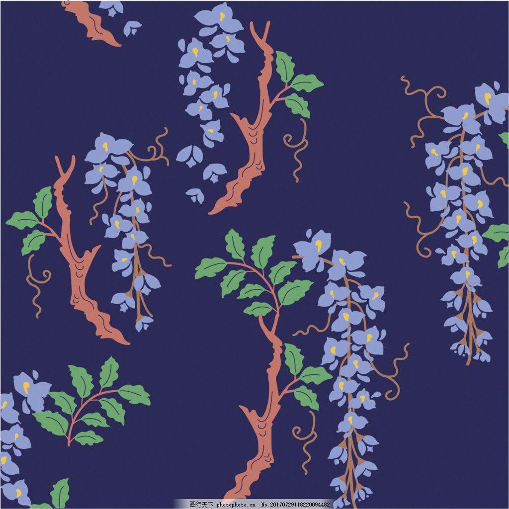 紫色花枝背景图 广告设计 广告背景图 背景图片下载 矢量背景图