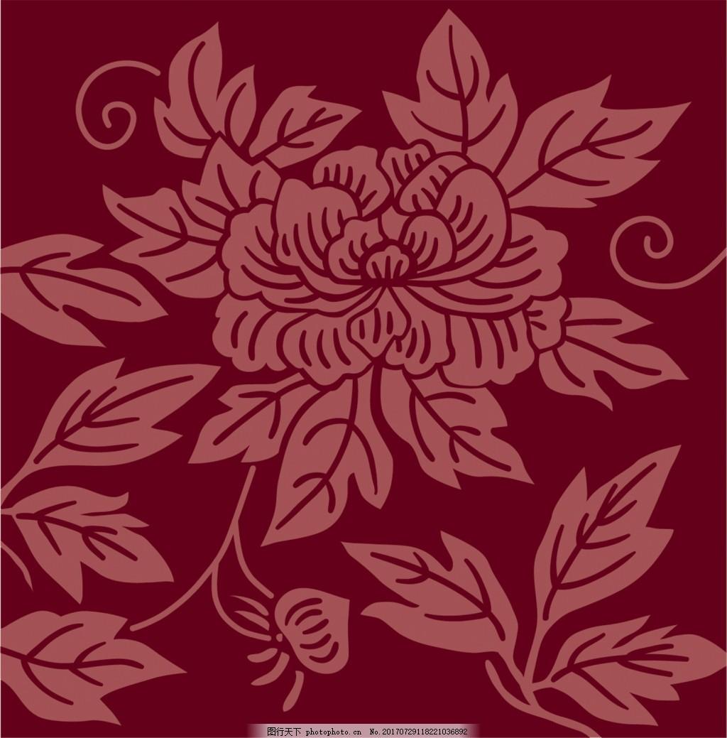 红色花朵背景图 广告设计 广告背景图 背景图片下载 矢量背景图