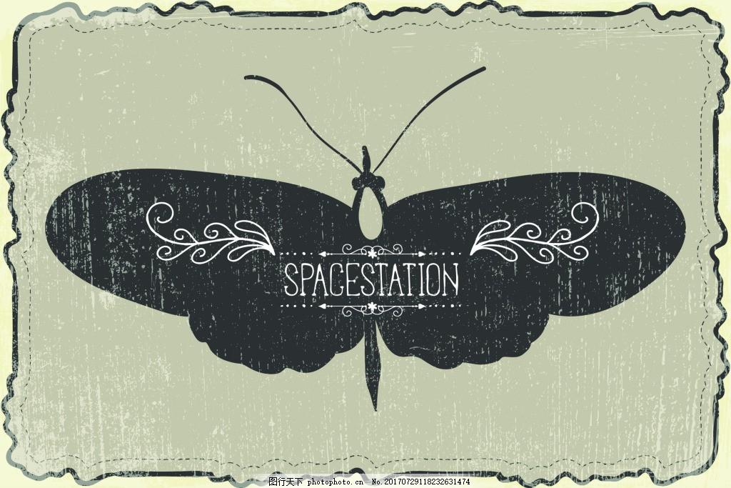 矢量蝴蝶设计素材 标本 装饰 源文件 平面设计素材 图标元素 创意设计