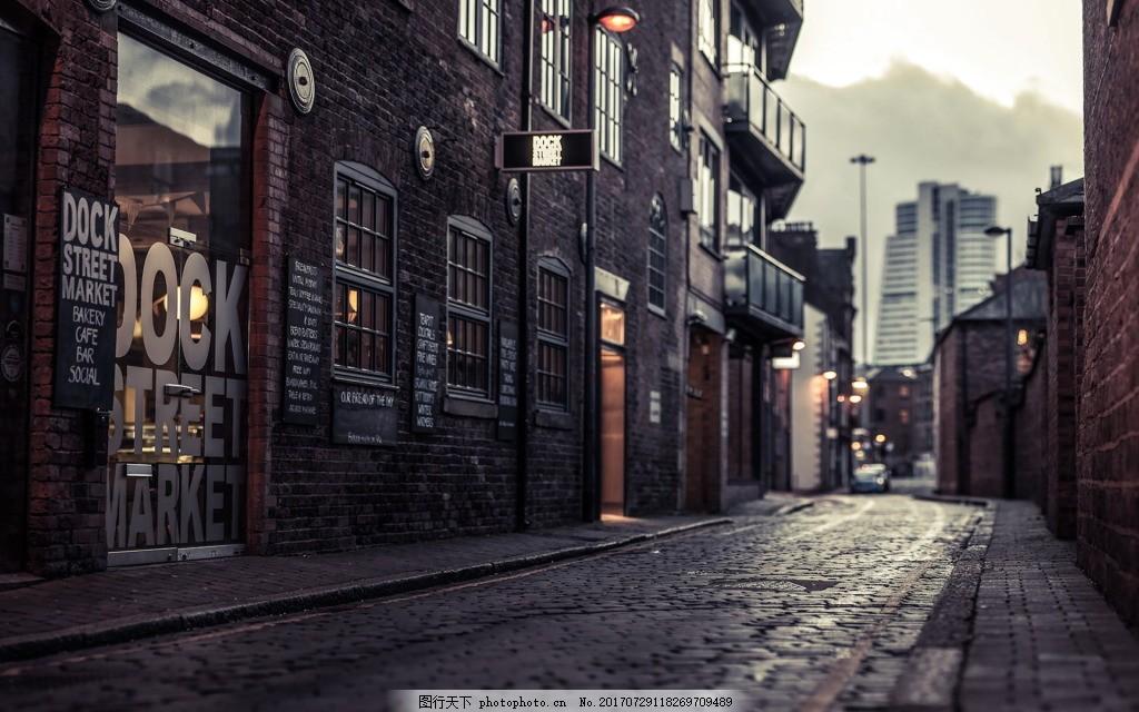 城市街景现代背景 城市 夜景 欧美 欧式建筑 街道 时尚 现代 广告背景