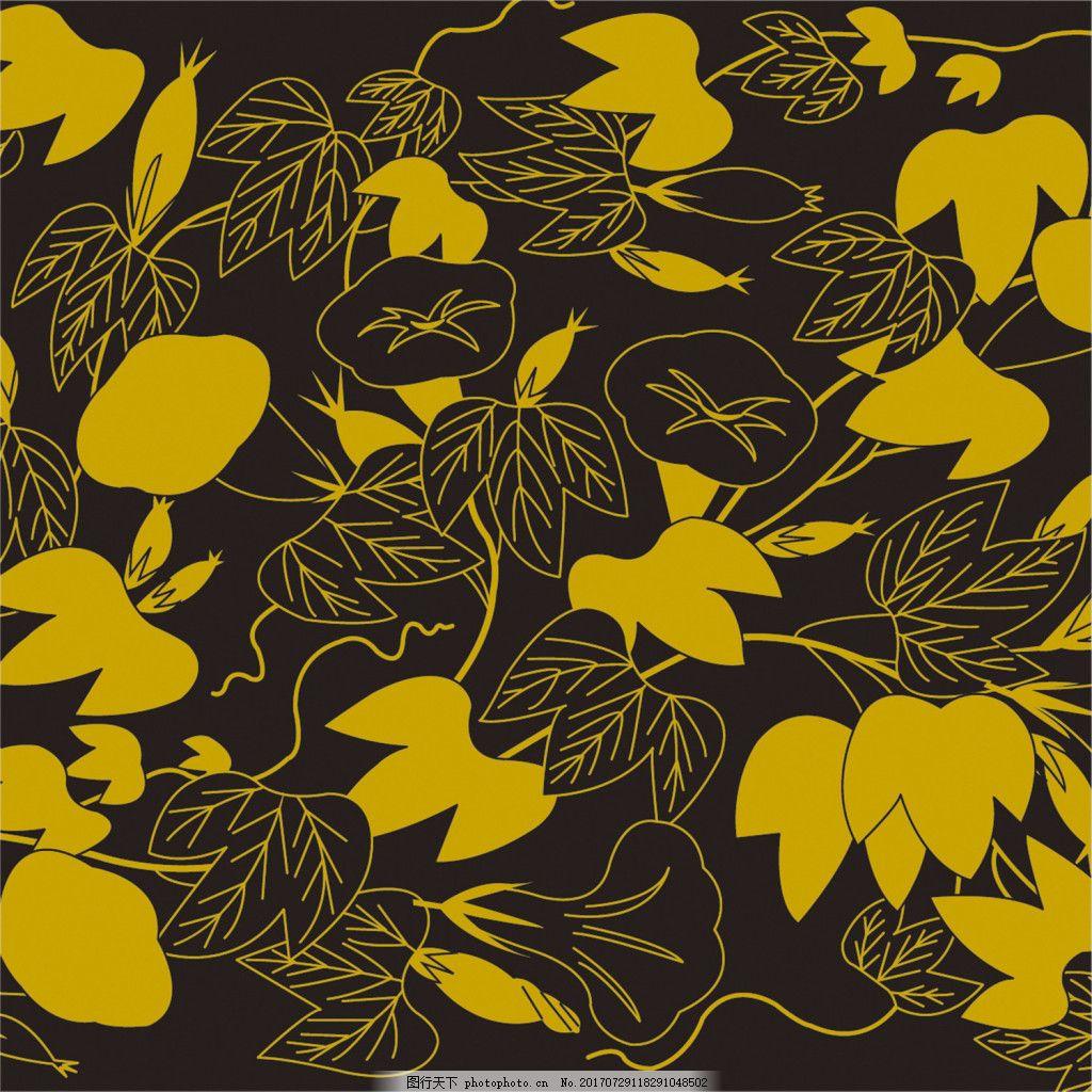 黄色填充树叶背景图 广告设计 广告背景图 背景图片下载 矢量背景图