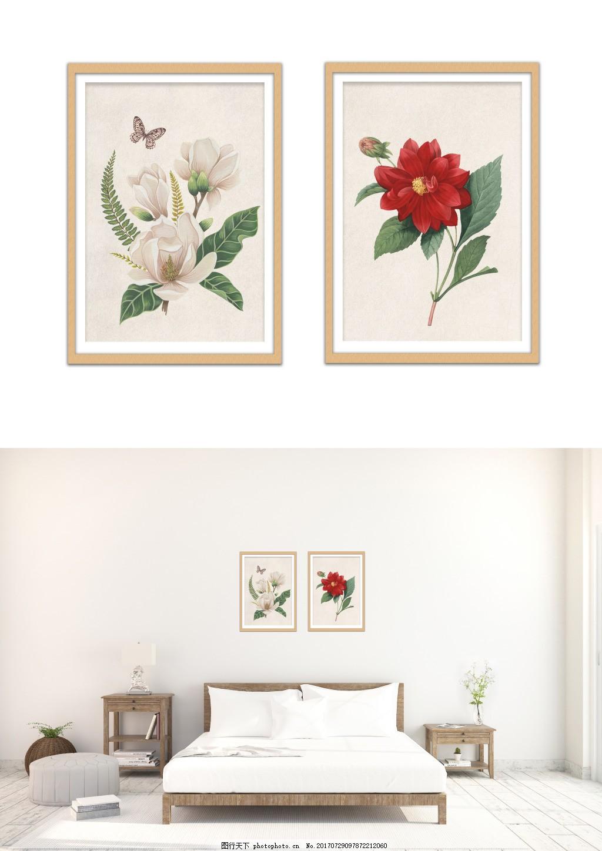现代淡雅手绘花装饰画 客厅无框画 无框画图片 风景装饰画 精品装饰画