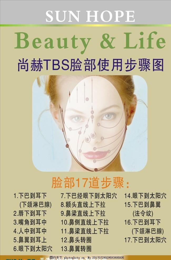 尚赫 脸部使用步骤 尚赫素材 尚赫展板 尚赫海报 美容 美容素材 美容