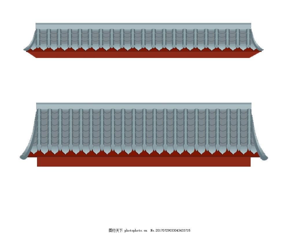 屋檐 屋檐瓦檐 各类房檐 广告设计