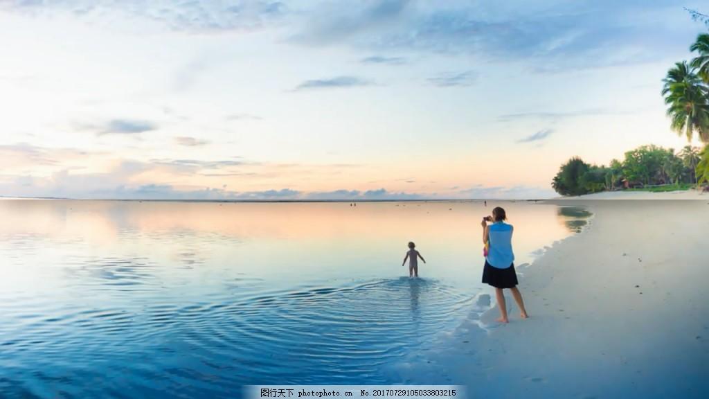 夏天假期旅游照片幻灯片快速展示