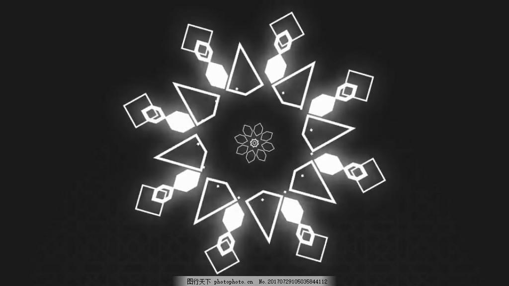 神秘MG风格动画Logo展示 菱形 酷炫 黑白 时尚 视频模板