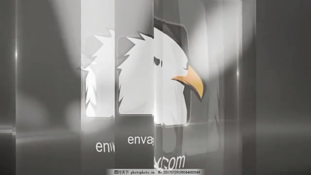 透过玻璃折射显示Logo文字 创意 展示 时尚 视频模板 高清视频模板