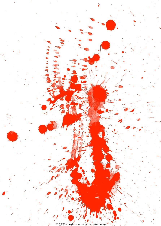 手绘水墨泼墨元素 手绘 红色水墨 墨点 晕染 泼墨 png 免抠 素材 png