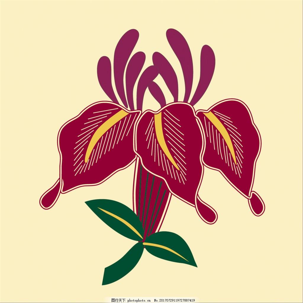纹绣花朵背景图 广告设计 广告背景图 背景图片下载 矢量背景图