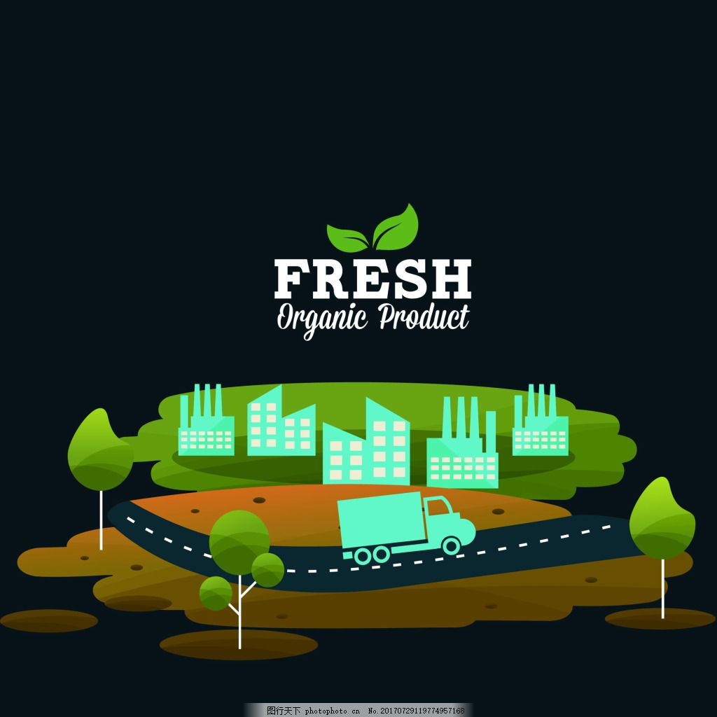 矢量城市设计素材 汽车 植物 源文件 平面设计素材 图标元素 创意设计