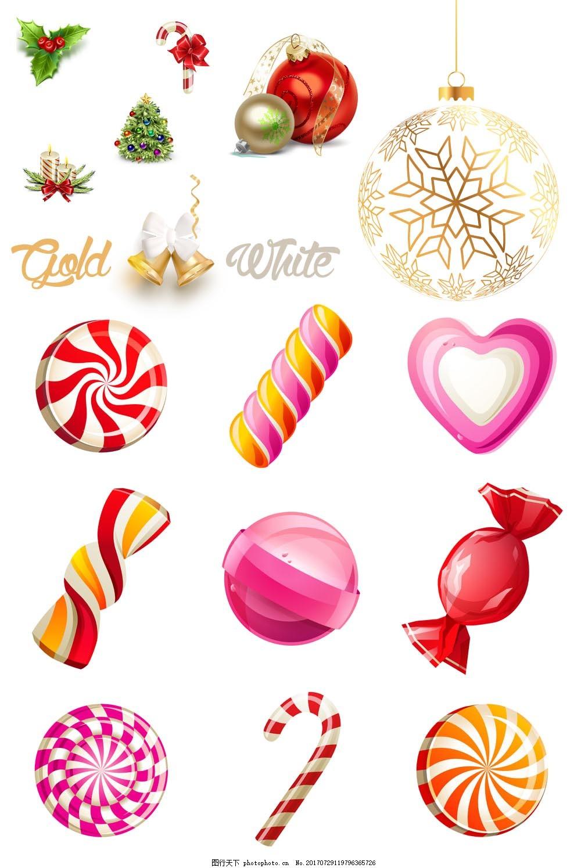 手绘彩色糖果元素