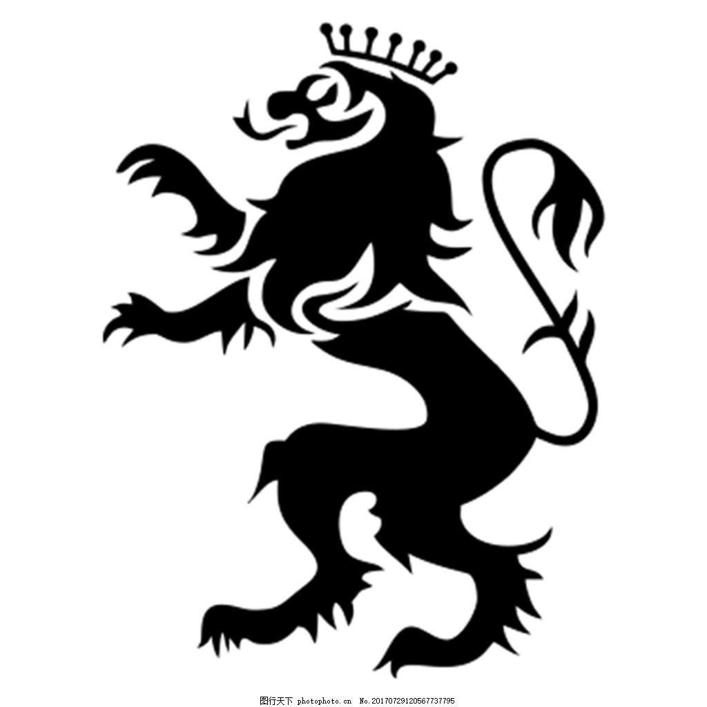 类似东风标志车样的狮子图 皇冠狮子 矢量图 卡通狮子 东风标致