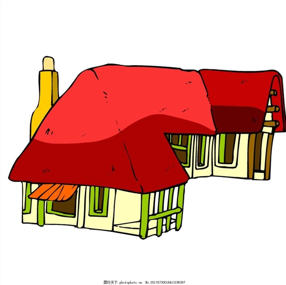 中式建筑 房子 卡通 卡通建筑 古代建筑 动漫动画