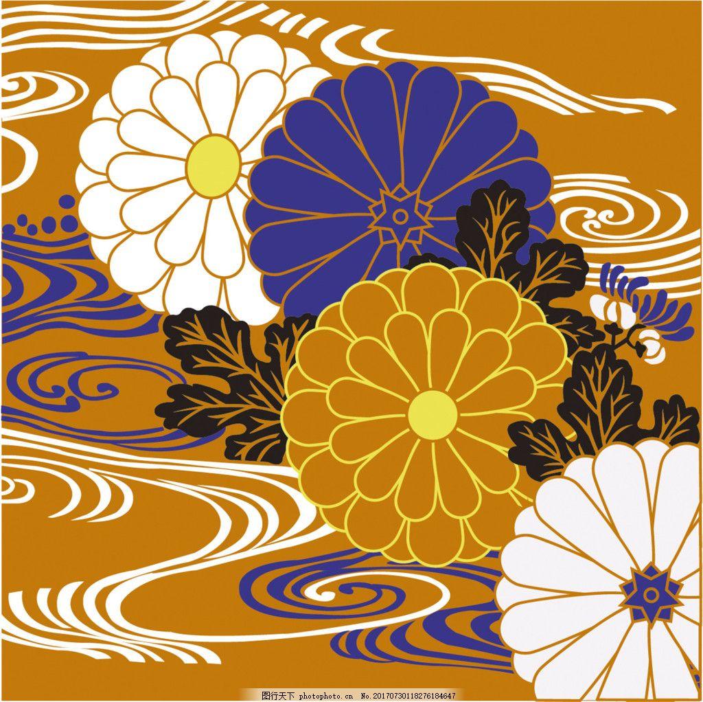 彩色中式花纹背景图 广告设计 广告背景图 背景图片下载 矢量背景图