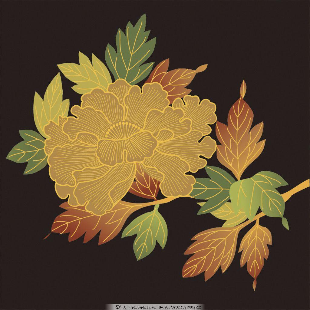 夜光花朵背景图
