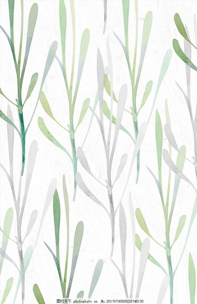 叶子 植物 花卉素材 花卉水彩贺卡 邀请函 请帖 花卉插画 清新 水彩图片