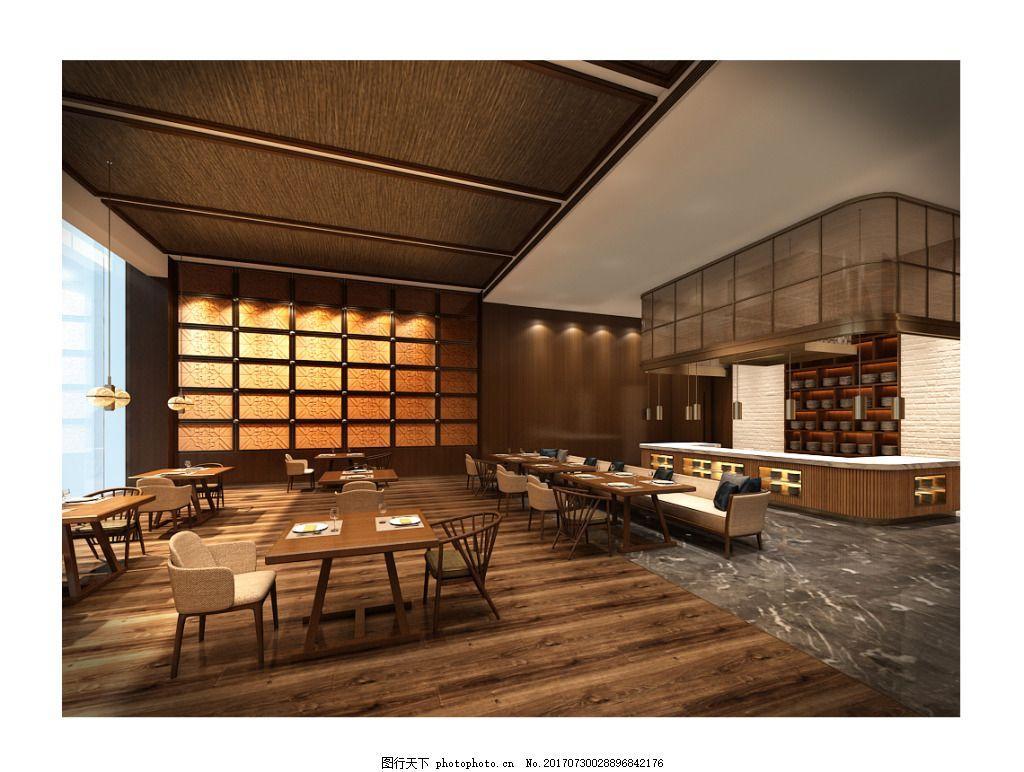 咖啡厅工装效果图设计