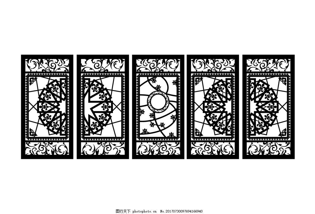 镂空门移门pvc雕刻 装饰门 花纹设计 装饰图案