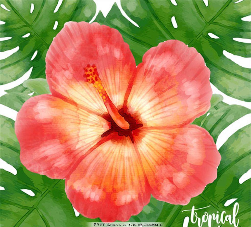 底纹 设计素材 复古海报 手绘海报 花卉海报 创意 高端 大气 欧美